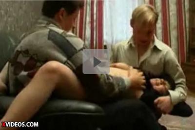 【外人レイプ】男二人に押さえつけられ脱がされて交互に挿れられる