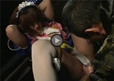 【友崎りん】Piaキャロットのコスプレで誘拐事件を探るうちに捕えられたエンジェル 椅子に縛り付けられてM字開脚 執拗に責められ涙をこぼす