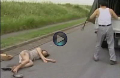 【昏睡レイプ】わき見運転ではねてしまった女性を荷台に乗せて拉致 傷つき意識不明の被害者の衣服を脱がせレイプする人でなし鬼畜男