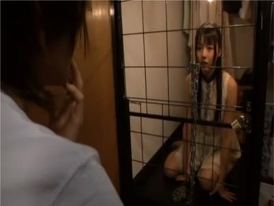 【つぼみ】アイドル的AV女優監禁 変質的ファンによる犯行? 檻に繋がれトイレに行かせてもらえずお漏らし 両手両足を縛られローター責め 女優引退の危機