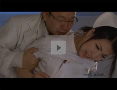 【看護師SM調教レイプ】医者がナースを後ろ手に縛り白衣の上から胸を何度も揉みしだく「先生!やめて下さい!」レースのショーツをおろし、きれいなアナルを凌辱するスケベ医者