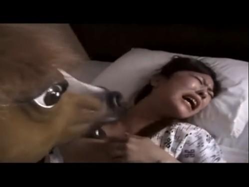 【どっきりレイプ】寝起きを襲うドッキリ?? 馬がレイプ?? おふざけレイプもたまにはいっかー?!  オムニバスで他2本楽しめますが、その後は途中で止まってしまいます。