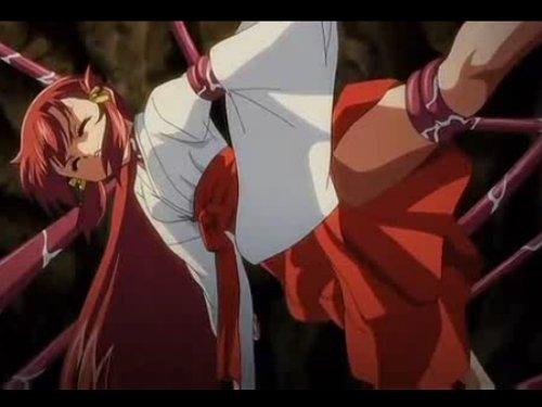 【エロアニメ】巨大触手が巫女を二穴レイプ 大好きな先輩に処女を捧げた直後に前後の穴を奪われた少女 神に仕える女が神に犯された