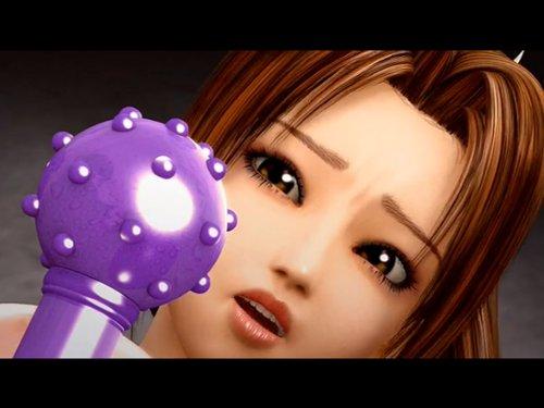 【3Dエロアニメ】強いくノ一監禁・凌辱・調教 巨乳の乳首に針を刺されかき回された後、飛び出し止まらない乳汁 イボイボ付きリモコンバイブで子宮をかき回す