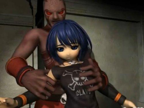 【3Dエロアニメ】未発達のロリ美少女が醜悪な宇宙人にレイプ ちっちゃな胸を揉まれ狭い穴にイボイボした棒を挿入された後 絶対サイズの合わない大きな肉棒で中出し