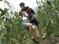 帰り道で突然レイパーに襲われ畑の中にひきずりこまれた