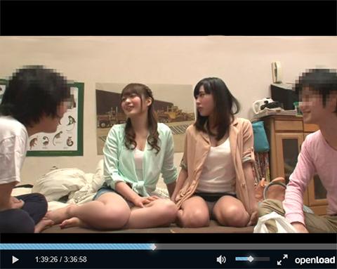 【宅飲み】イケメンの先輩がナンパして連れてきた脱いだら凄い女子大生2人組