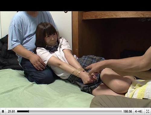 【素人】手足を縛られた女子校生がDQNたちにレイプされる…
